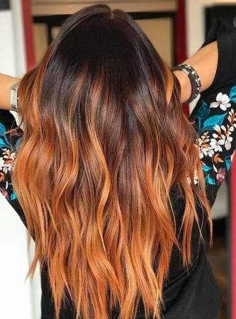 Le balayage de feu en 2019 Coloration cheveux, Cheveux