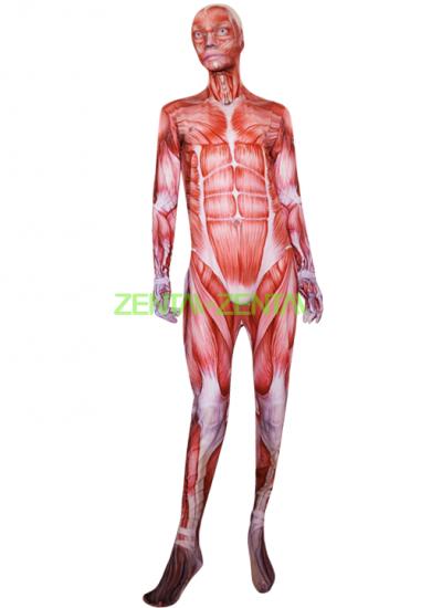 Muscle Printed Zentai Suit | Attack on Titan Bodysuit | Zentai Suit ...