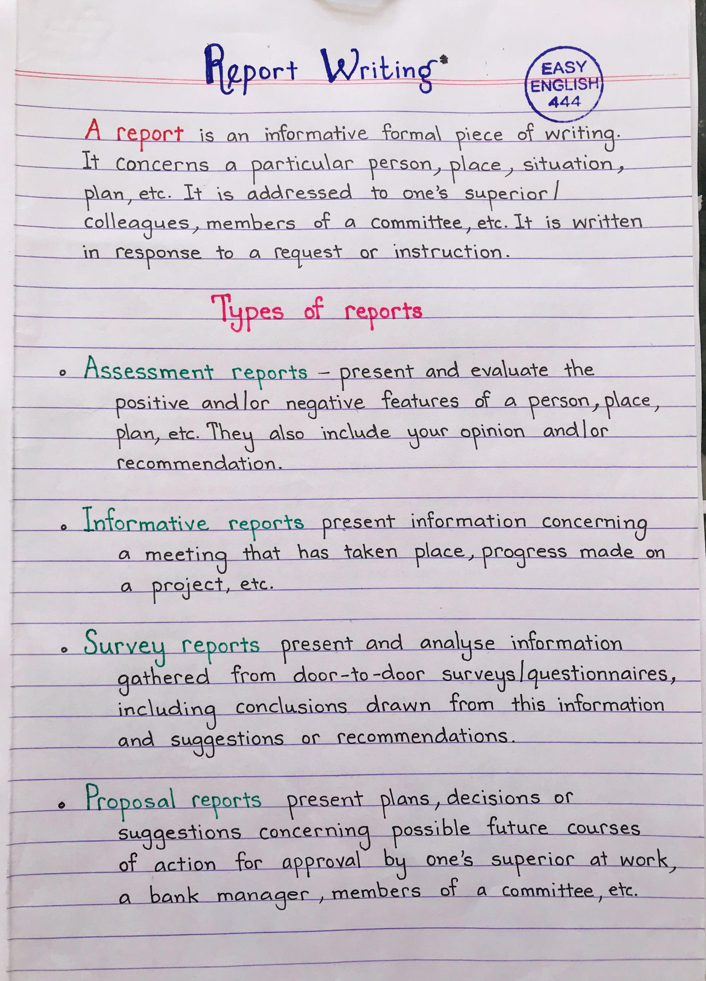 14 Best Report writing ideas  english writing skills, english