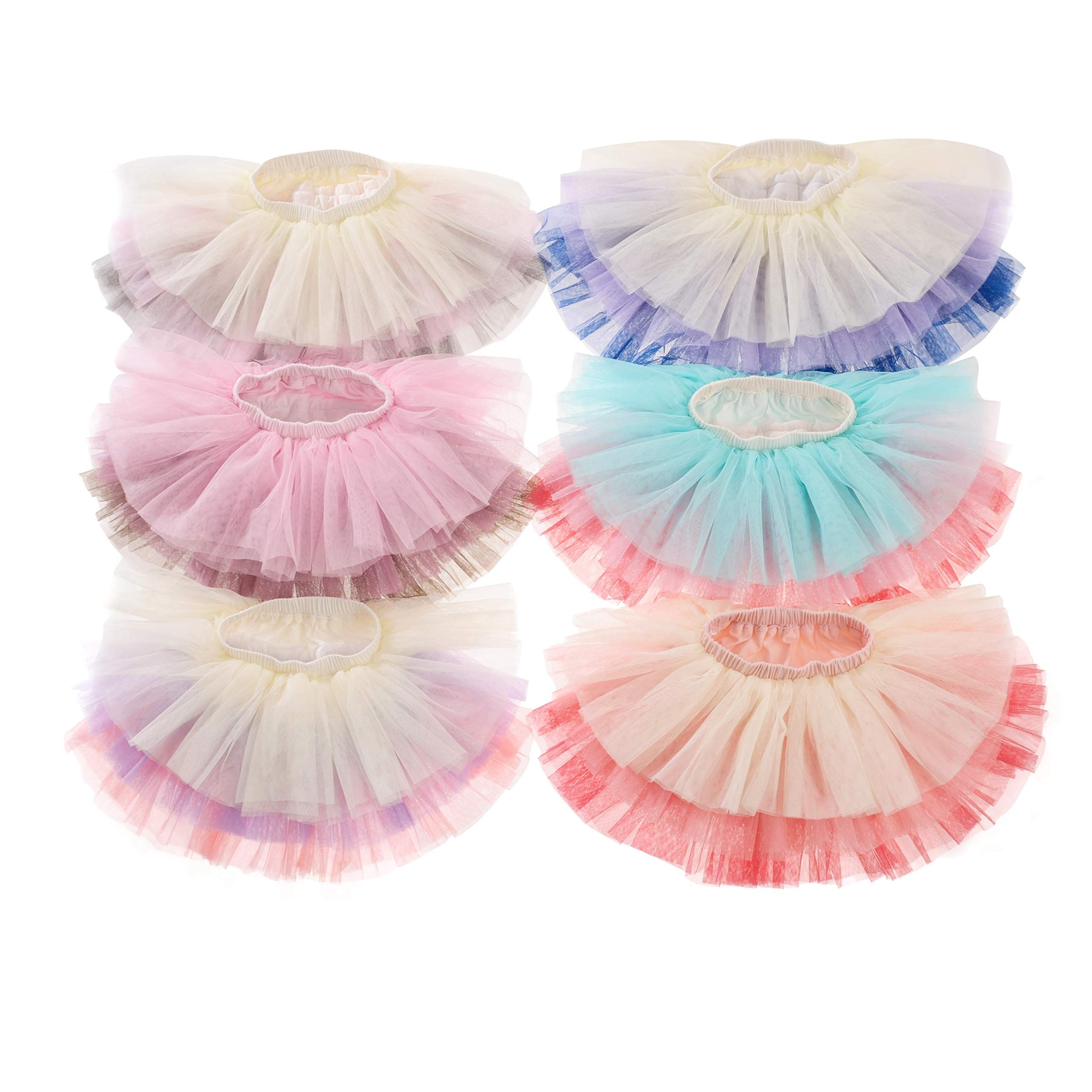Baby Toddle Girls Rainbow Tutu 6 Layered Fluffy Tulle Ballet Skirt 1-8T