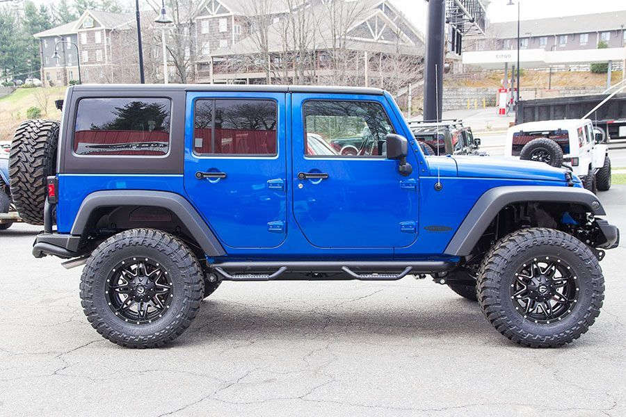2016 Jeep Wrangler Sport Unlimited Hydro Blue Blue jeep