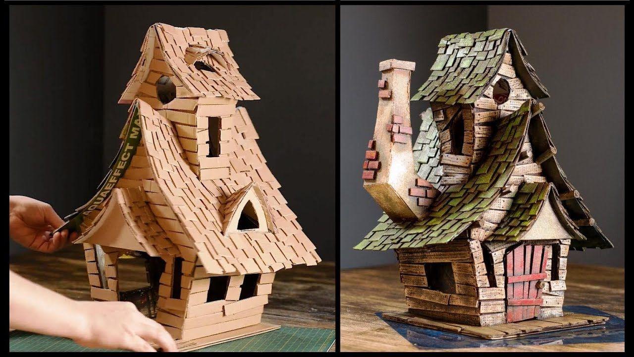 DIY Witch House Using Cardboard Casas de cartón, Drag
