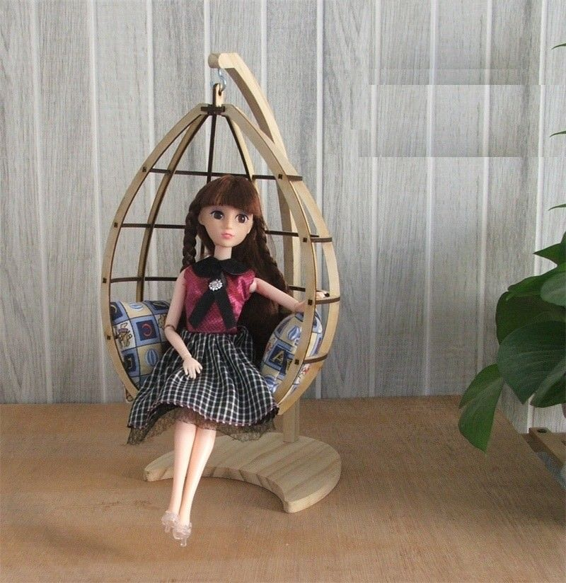 Doll Furniture 1 6 Scale Swing B Unpainted For Barbie Jerryberry Momoko Doll Furniture Hanging Chair Hanging Swing Chair