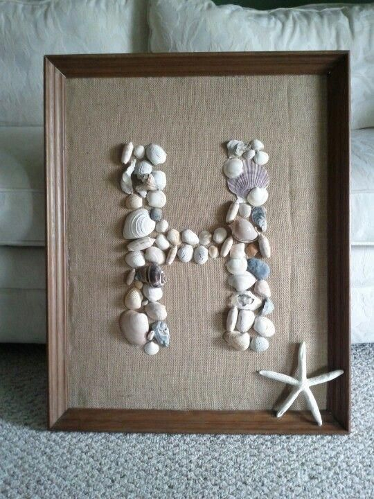 $1 frame from Peddlers Mall, old shells from a beach themed room
