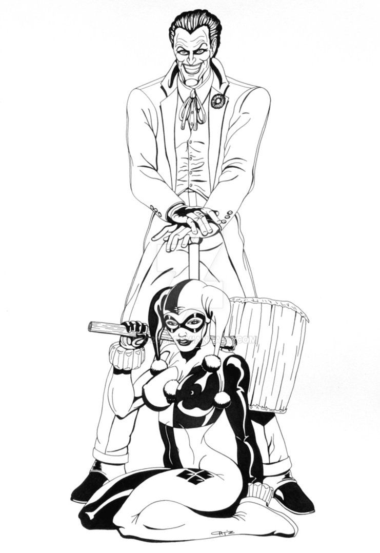 joker_and_harley_commission_by_eso2001 d32ffg2jpg 7411078 harleybatman coloring pages pinterest
