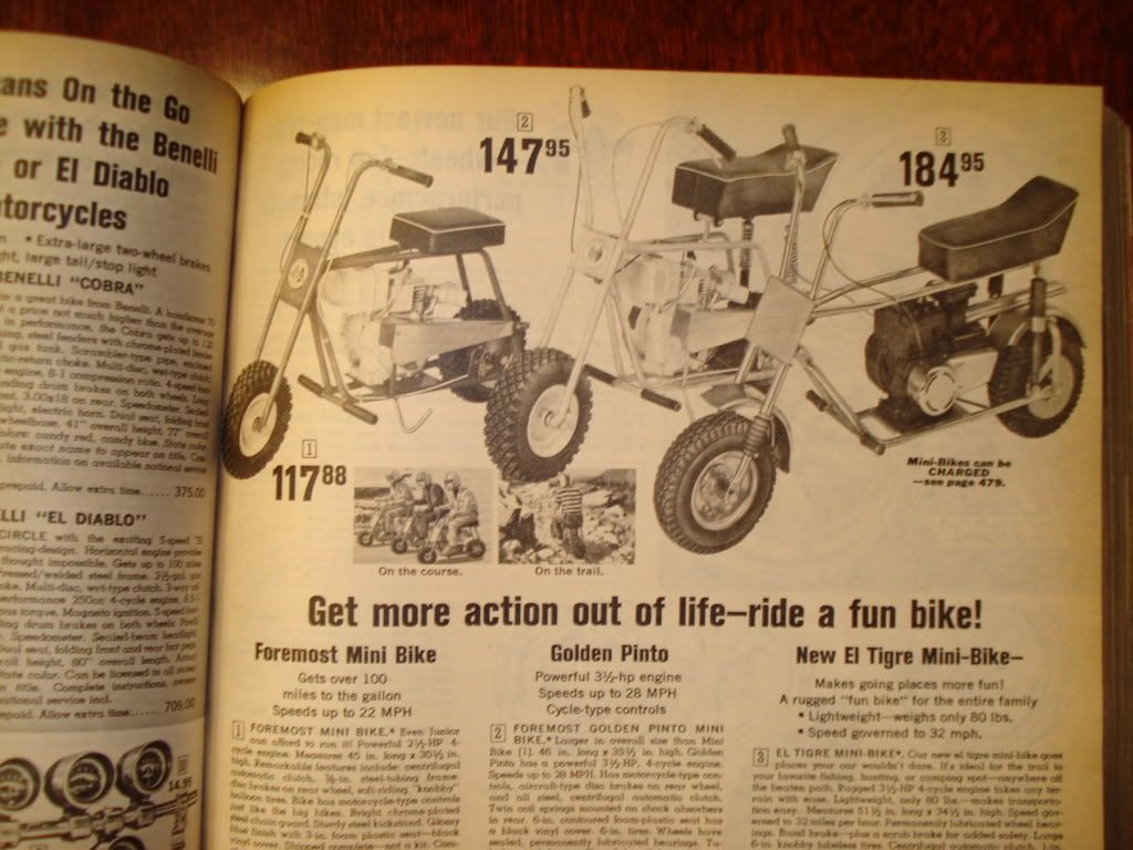 Does Anybody Have Any Catol Pics Of Foremost Mini Bikes Sold