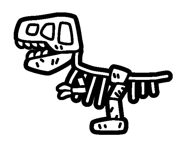 Dibujo de Fósil para colorear … | 恐龙 in 2018…