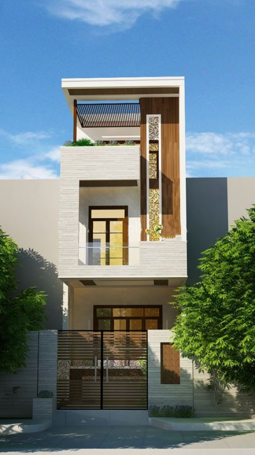 Small House Elevation Design Small House Design Exterior Narrow: Bungalow House Design, Small House Exteriors, 3 Storey House Design