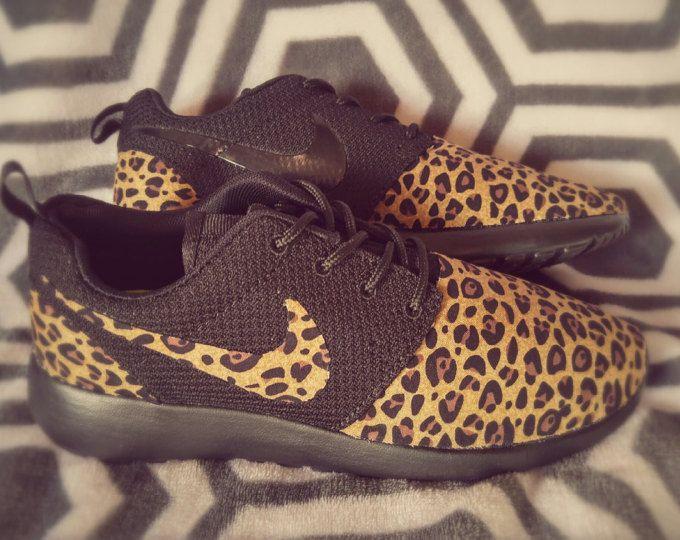 Roshe Leopard laufen Nike GepardSchuhe Benutzerdefinierte SzqMVUp