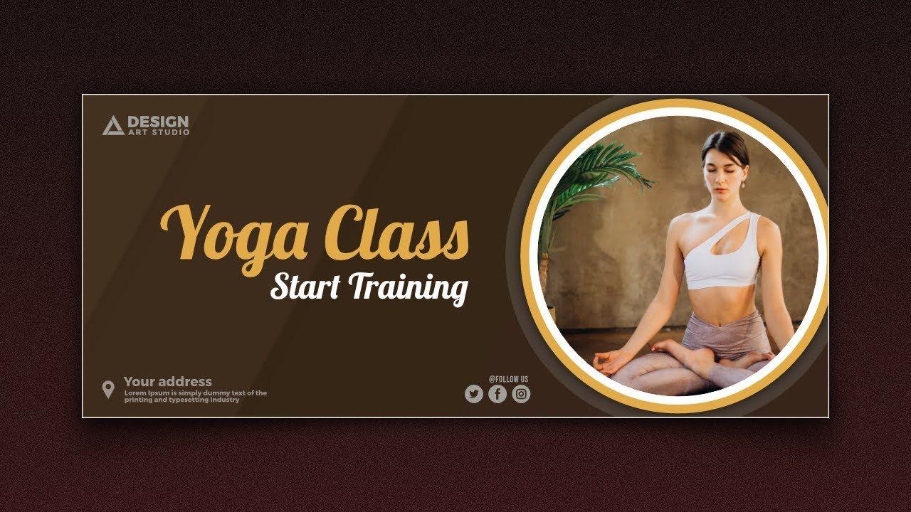 Yoga Banner Design In Affinity Designer In 2020