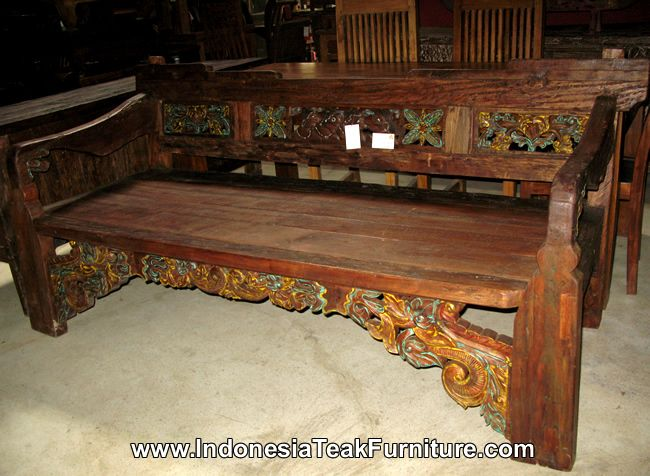Reclaimed Teak Wood Furniture Java Bali Indonesia Antique