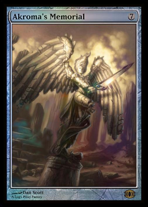 Akromas Memorial Mtg Digital Rendering Angel Warrior Magic The