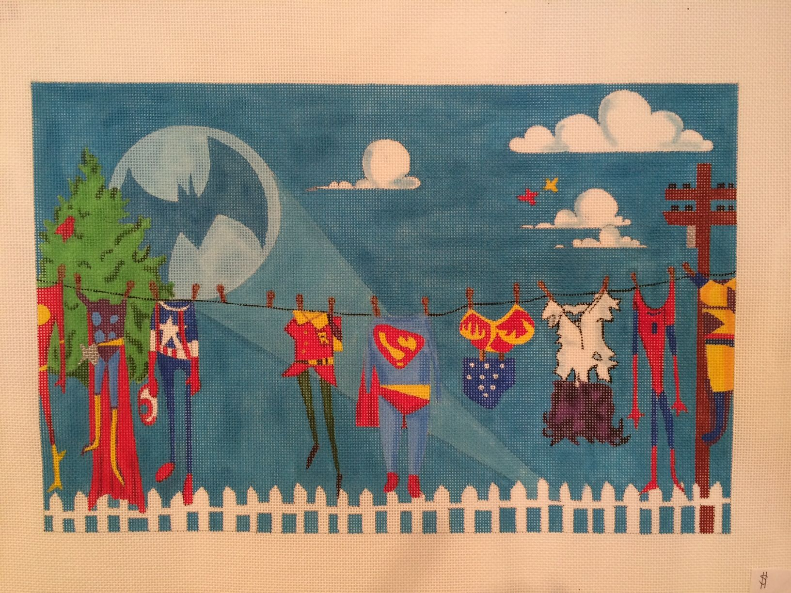 Super Hero Needlepoint Project For The New Year Find It At