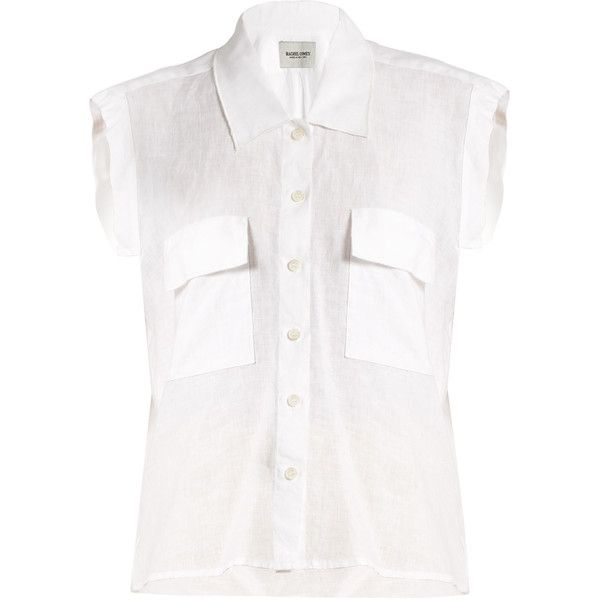 e437ad2c6dce2 Rachel Comey Brewster linen sleeveless shirt ( 299) ❤ liked on Polyvore  featuring tops