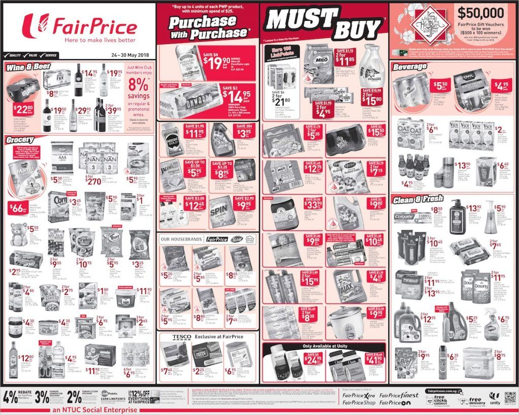 Ntuc Fairprice Singapore Your Weekly Saver Promotion 24 30 May 2018 Buying Groceries Savers Singapore