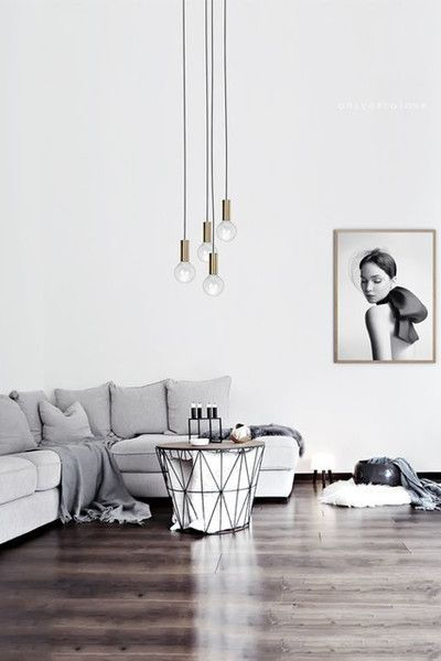 Grey weather haven 16 cozy living rooms we want to live for Cozy minimalist living room
