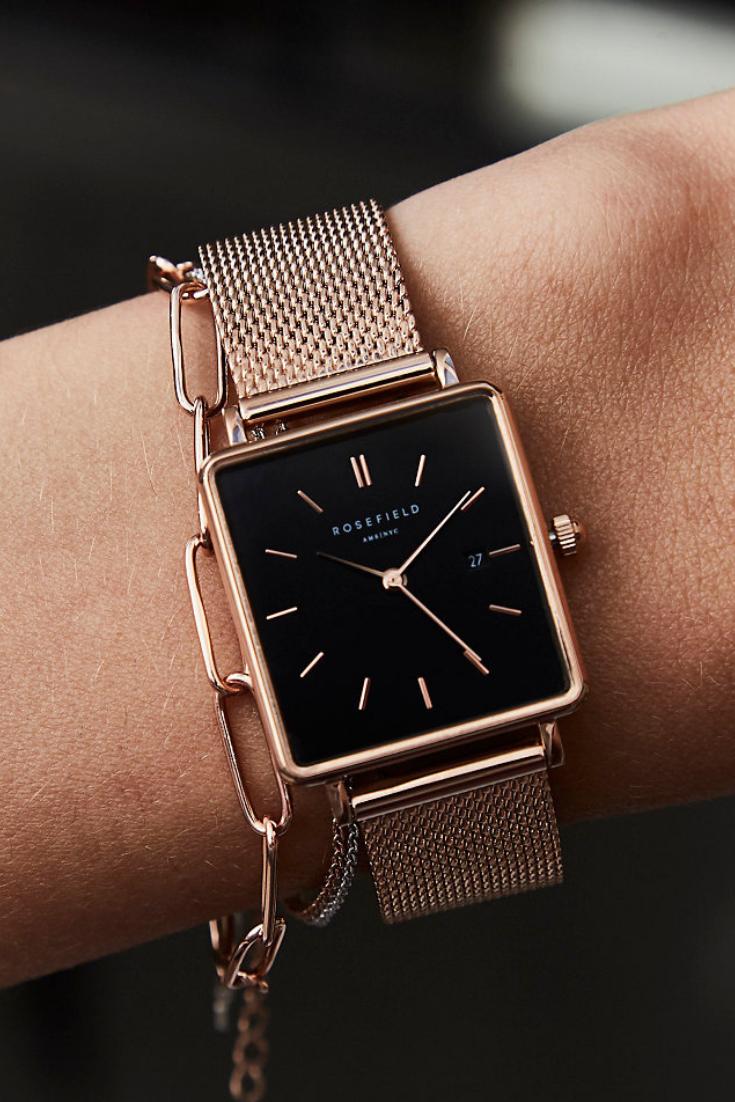Eckige Uhren im Trend - Rosefield
