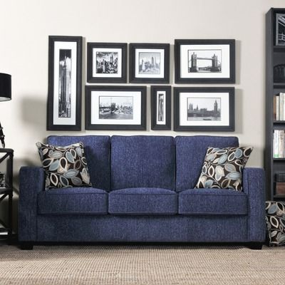 another blue sofa but not loving the chenielle on it...makes it look blue jean-y....this is going to be a TOUGH make-over!!!