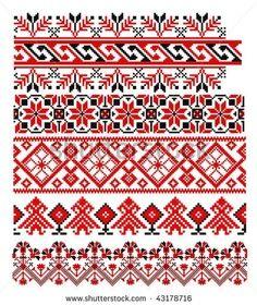 Cusaturi Traditionale Romanesti Romanian Traditional Motifs Pinterest Embroidery Stencil