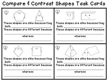 compare contrast 2d 3d shape attribute task cards scoot game ela math ccss teaching units. Black Bedroom Furniture Sets. Home Design Ideas