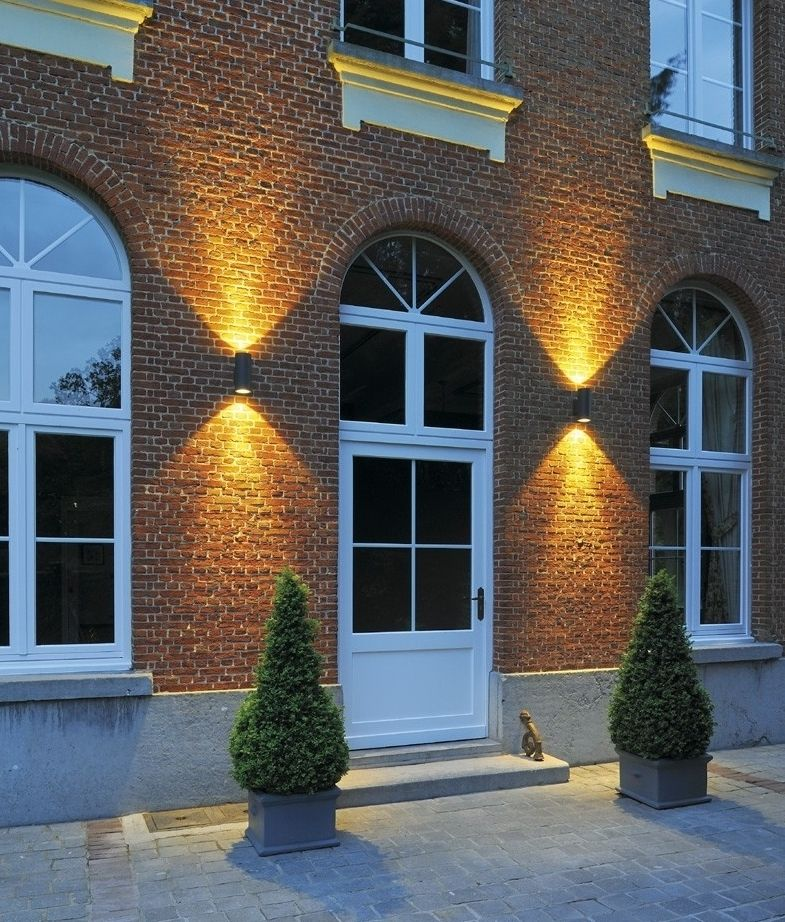 Led Cylindrical Ip55 Exterior Wall Light Up Amp Down Exterior Wall Light Facade Lighting Modern Exterior Lighting