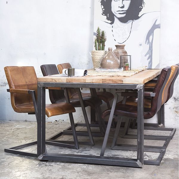 Industrie Design Esstisch Janus Holz Metall Auswahl: 1 X Industrie Designu2026