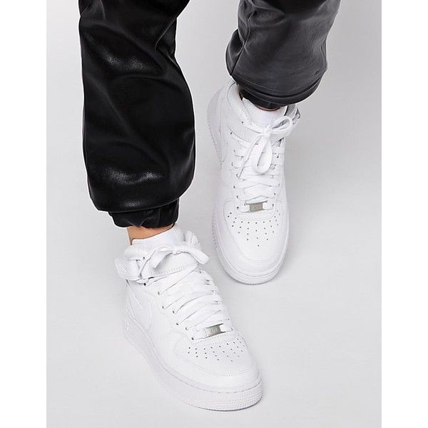 Nike Air Force 1 07 Mid White Trainers