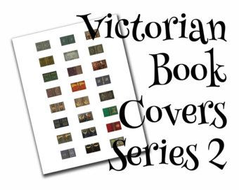Victorian dollhouse book covers series 1 of 2, 1:12, PDF digital file, three sizes, 24 styles, 72 book covers!