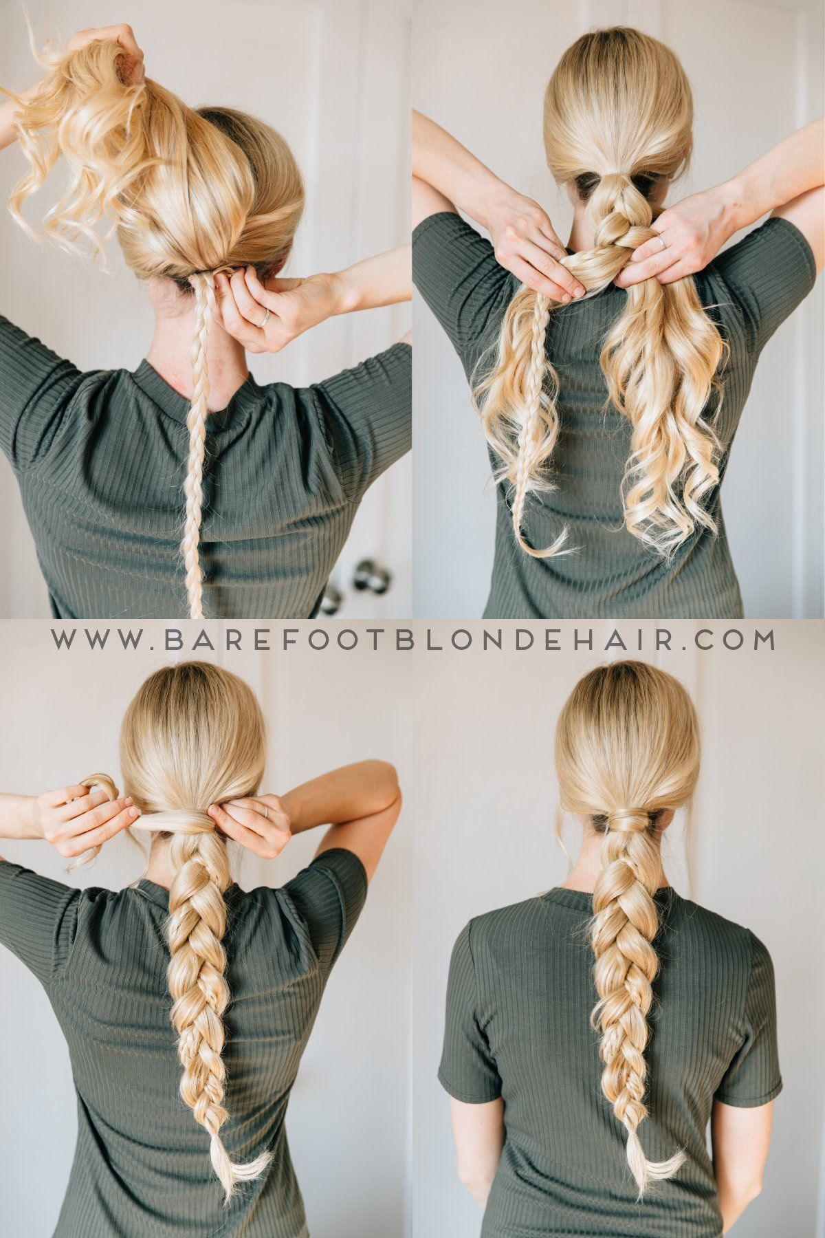 2 Ways To Braid Your Hair With Hair Extensions For Thin Hair Braiding Your Own Hair Braids For Long Hair Long Hair Styles