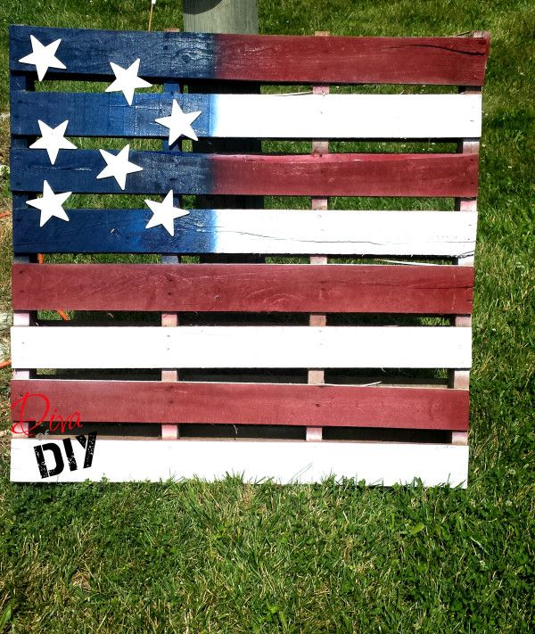 Diy pallet ideas how to make an american flag american flag pallet pallet projects and pallets - American flag pallet art ...