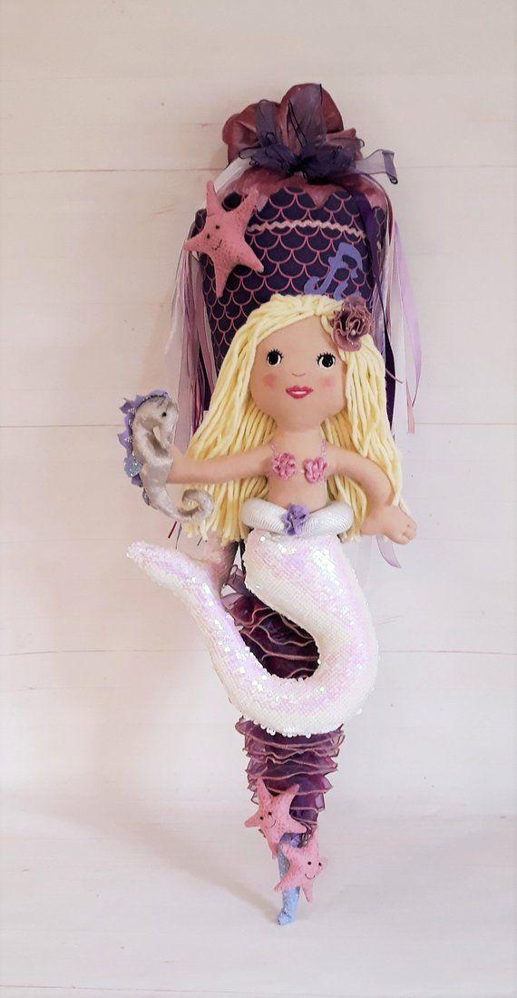 School bag mermaid seahorse * doll figure * underwater * starfish * girls * Nixe