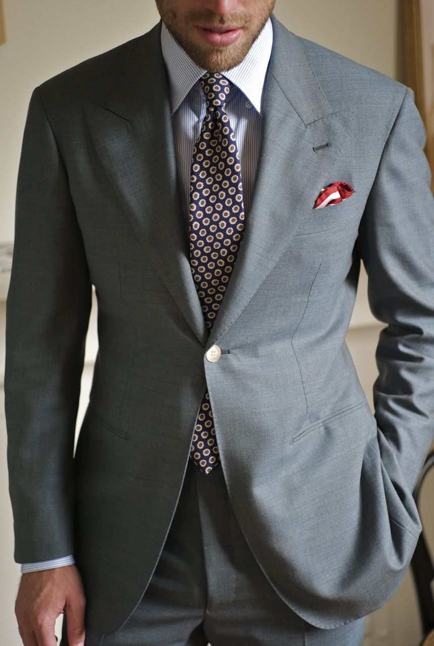 SB 1-buttoned peak lapel | sartoria | Pinterest | Man style, Suit ...
