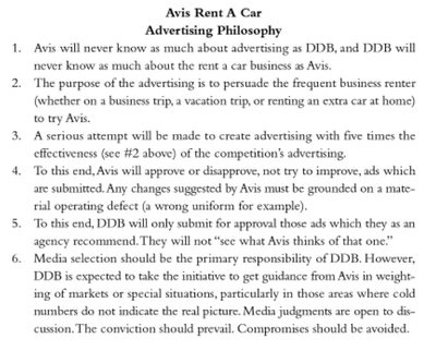 Bernbach S Avis Rent A Car Philosophy Create Ads Advertising Learning Stories