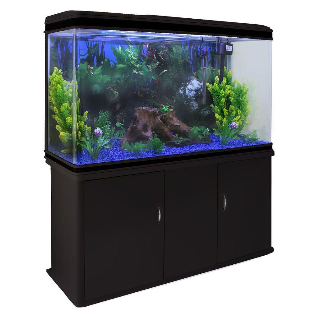 Details about Fish Tank Aquarium Complete Set Up Tropical