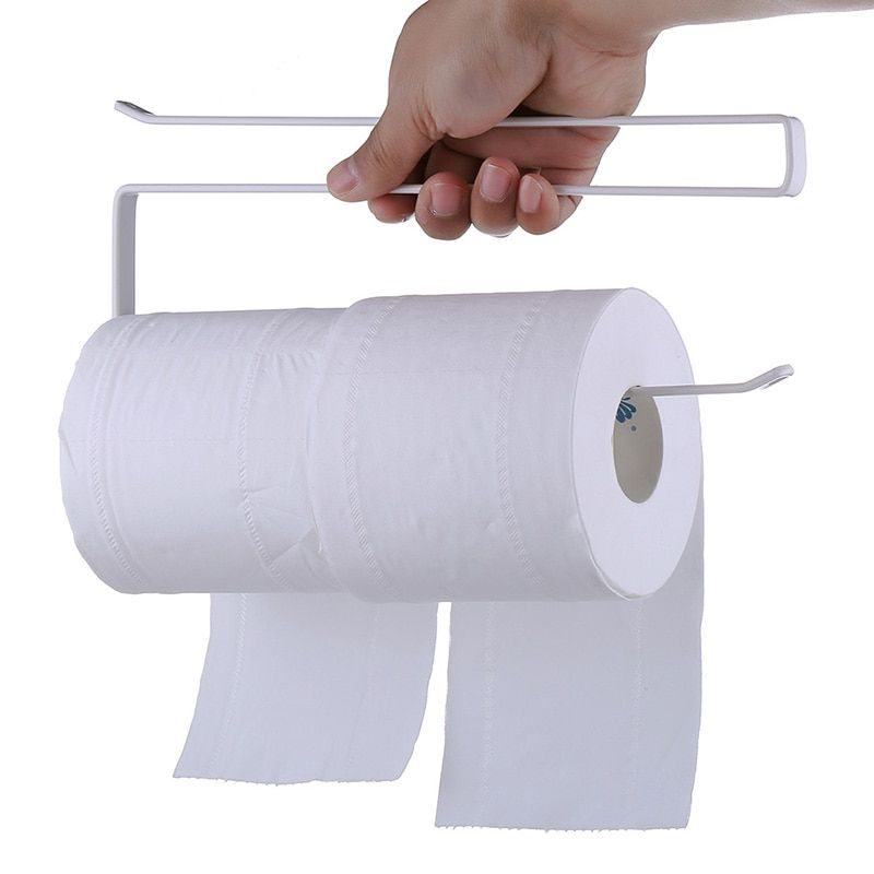 Hanging Toilet Roll Paper Holder Towel Rack Iron Kitchen Tissue Holder Kitchen Cabinet Door Hook Holder Home Bathroom Organizer In 2020 Bathroom Organisation Diy Storage Rack Bathroom Toilet Paper Holders