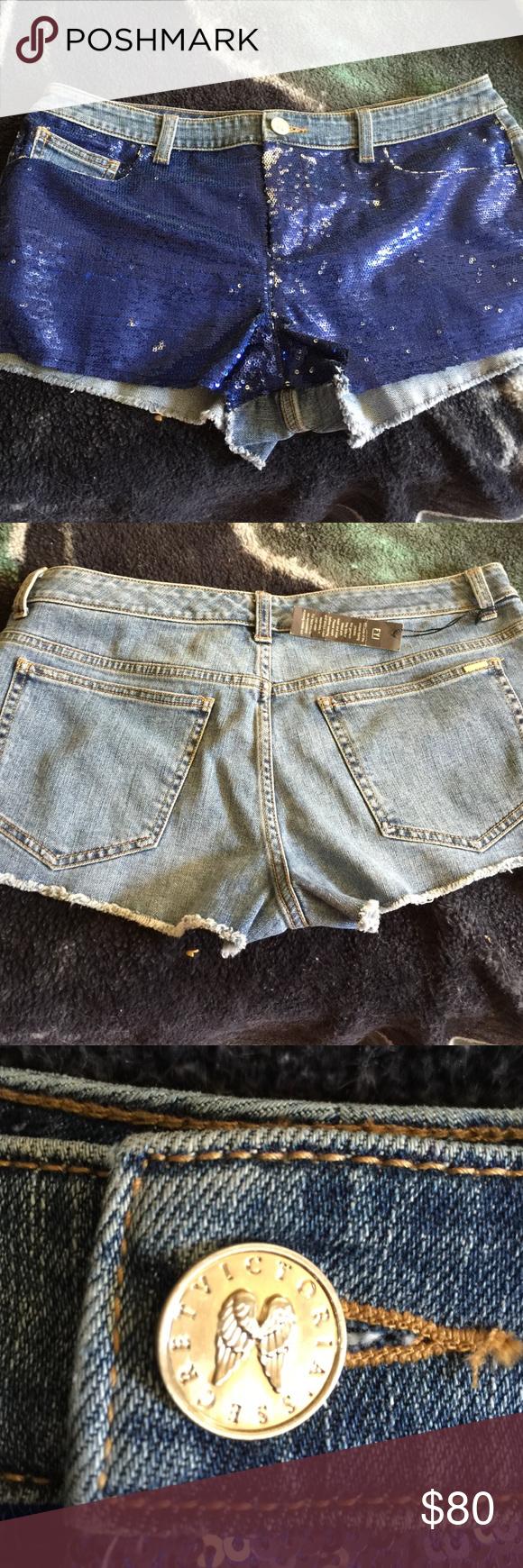Victora secret NWT Blue jean bling shorts Victoria's Secret Shorts Jean Shorts