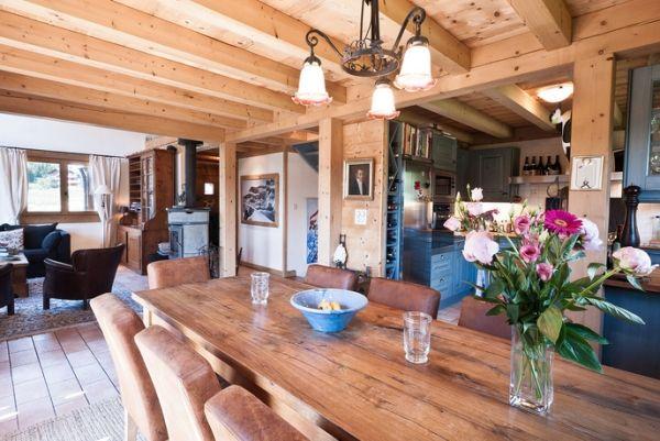 esszimmer-massivholz-esstisch-echtholz-decke | Deko | Pinterest