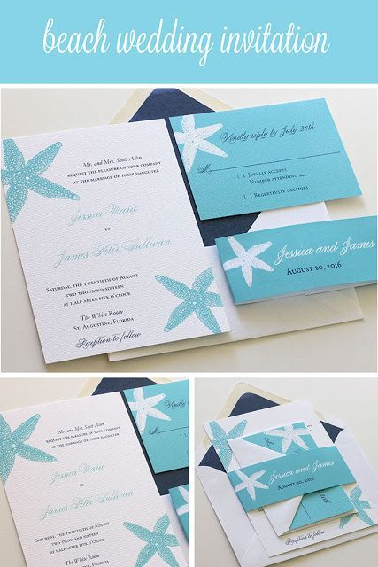 Attirant Affordable Thermography Wedding Invitations, Completely Customizable!  Starfish Wedding Invitation. Blush Paperie