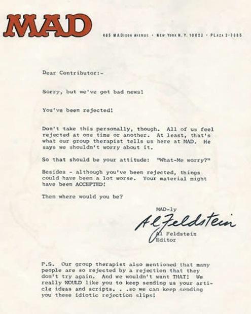 8 Memorable Rejection Letters