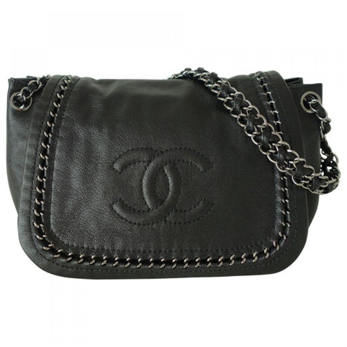 84935dc0d9a5 Chanel Black Leather Handbag | Vestiaire Collective | Bags!!!!! :D ...