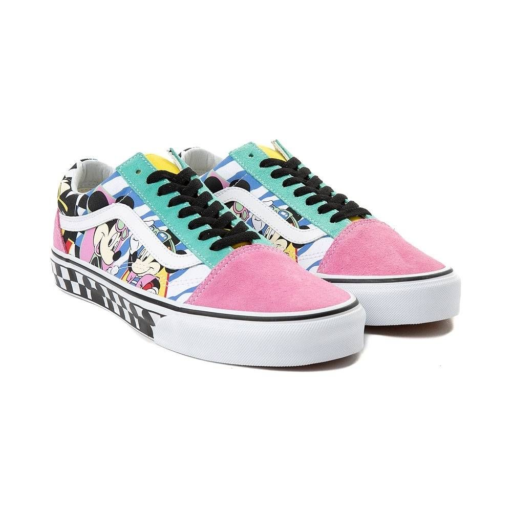 Disney x Vans Old Skool Chex Skate Shoe - 80 s Mickey - 497318 ... 1c15df08f
