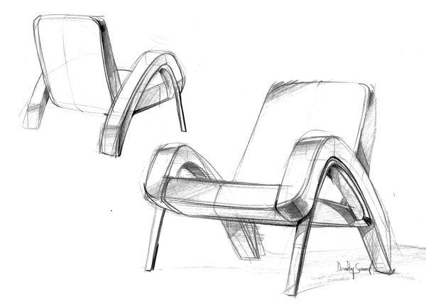 Retro Futuristic Chair Design Furniture Design Sketches Chair Design French Furniture Company