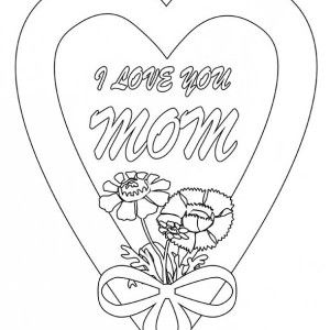 Hearts Roses I Love You Mom In Hearts And Roses Coloring Page I Love You Mom In Heart Mothers Day Coloring Pages Mom Coloring Pages Birthday Coloring Pages
