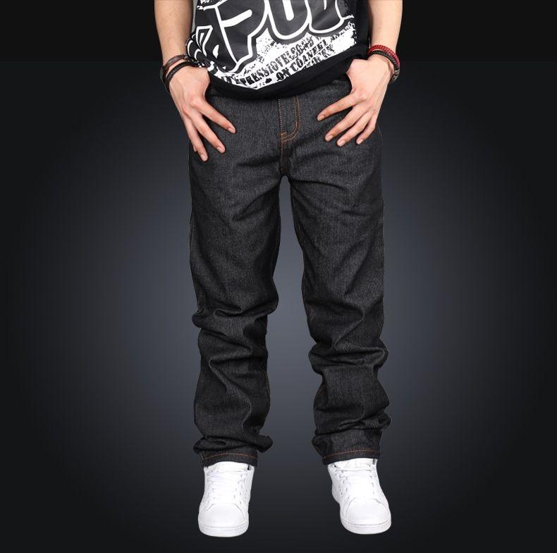 8ce951cabca Mens Hip Hop Baggy Denim Jeans New Designer Jeans Men s Straight Loose  Street Wear Embroidery Jean Pants Men Plus Size 42 44