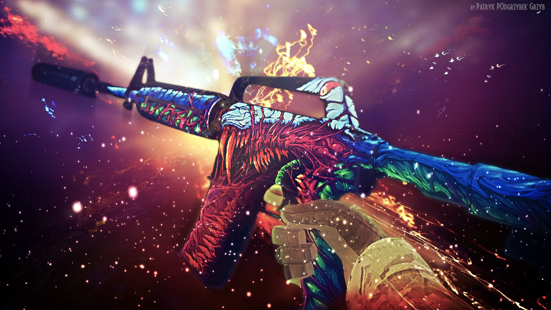 Steam Community M4a1 S Hyper Beast Wallpaper By