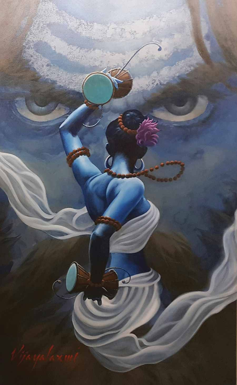 Who Do You See Devata Or Devi In 2020 Lord Shiva Painting