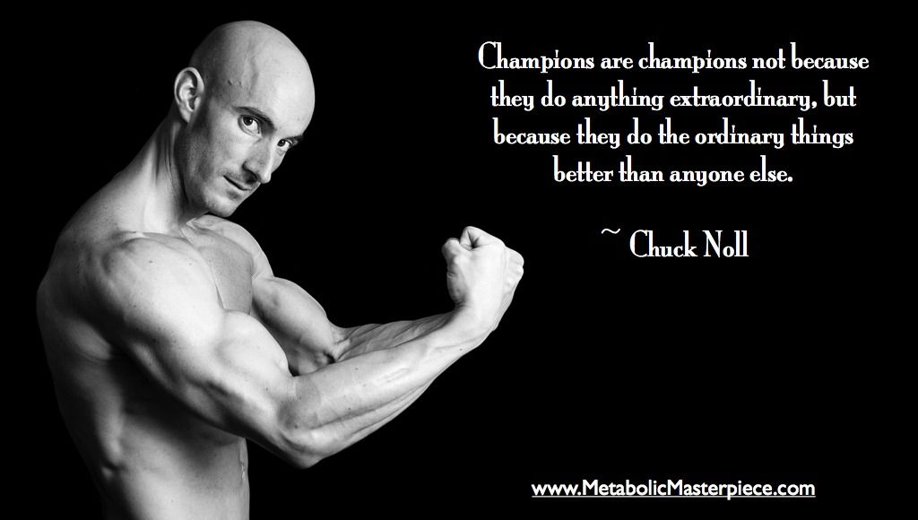 Love this quote by Chuck Noll...so true. Fitness