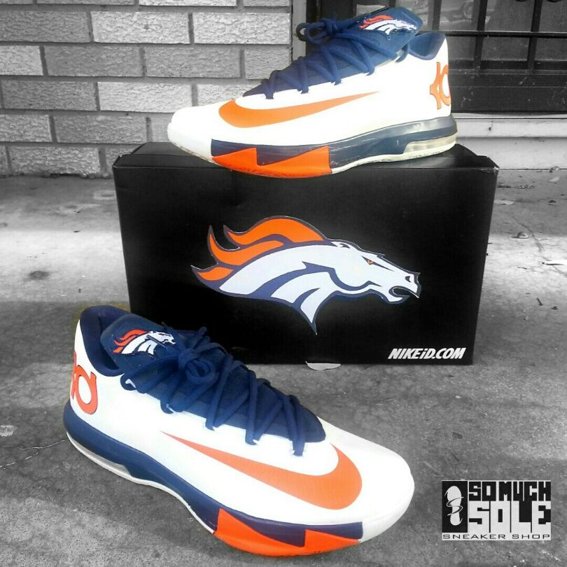 official photos 6bf53 c7889 Denver Broncos Custom Sneakers  Nikes, Toms, Vans,