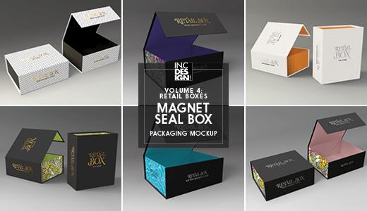 Retail Boxes Vol 4 Magnetic Box Packaging Mock Ups Box