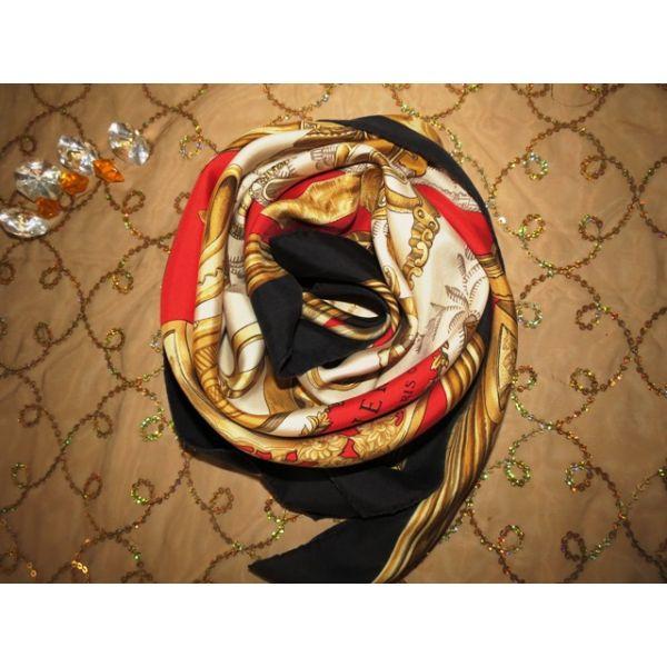 hermès, tuch, scarf, sciarpa, Foulard Carré en Soie, pas cher, vintage,  etriers, De La Perriere 1964 4e94b1ea3bb
